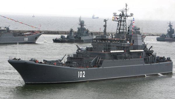 Репетиция парада Балтийского флота ко Дню ВМФ