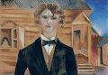 Марк Шагал. Автопортрет перед домом. 1914 год