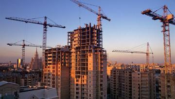 Строительство нового жилья в центре Москвы. Архивное фото