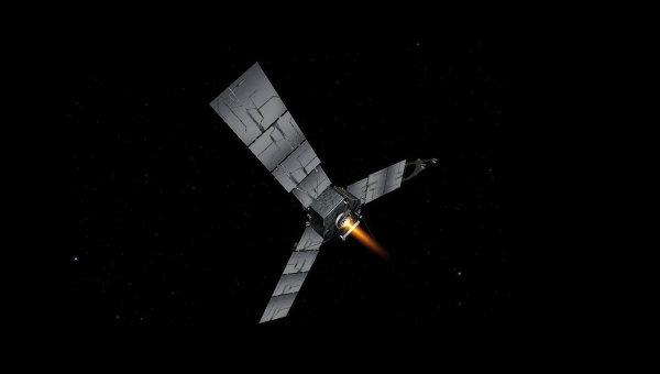 Зонд Джуно (Juno) во время включения главного двигателя