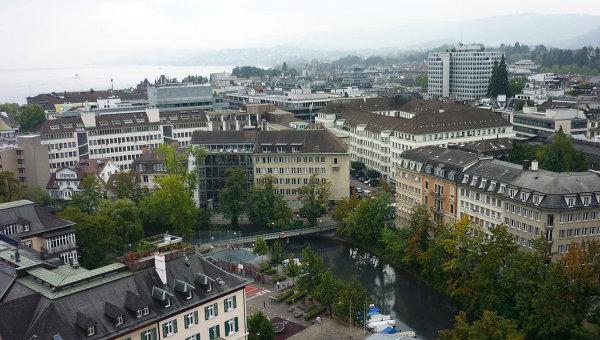 Вид на швейцарский Цюрих. Архивное фото
