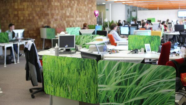 Работа офиса компании Яндекс. Архив