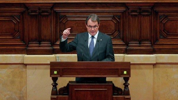 Выступление президента Каталонии Артур Мас