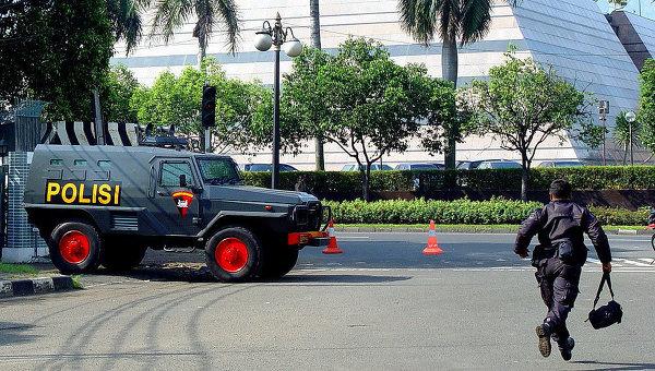 Работа полиции в Индонезии. Архивное фото
