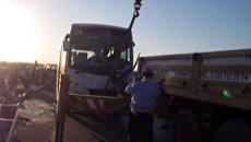 Кадры с места аварии автобуса с российскими туристами в Турции