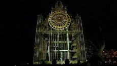 Горящая звезда и 3D инсталляции на фестивале света в Польше