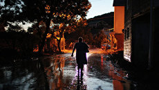 Последствия наводнения в поселке Новомихайловский под Туапсе