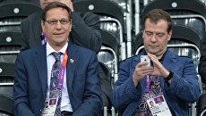 Премьер-министр РФ Д.Медведев в Лондоне