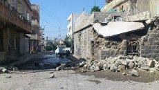 Разрушения в сирийской провинции