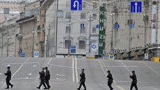 Свободная от автотранспорта Тверская улица. Архивное фото