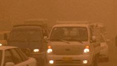 Песчаная буря накрыла улицы Багдада