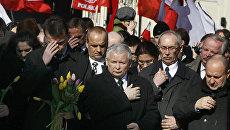 Ярослав Качиньский почтил память погибших в 2010 году в результате катастрофы правительственного самолета Ту-154
