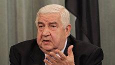 Министром иностранных дел Сирии Валид Муалем. Архивное фото