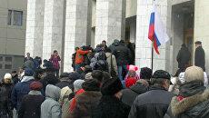 Россияне за рубежом стояли в очереди за избирательными бюллетенями