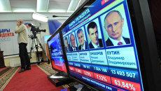 Подведение предварительных итогов выборов президента РФ