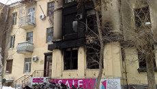Последствия взрыва и пожара в кафе Белладжио в Волгограде