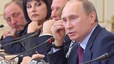 Встреча Владимира Путина с главными редакторами российских СМИ