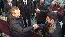 Рогозин подарил плотнику свои швейцарские часы за спасение подлодки