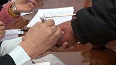 Проголосовавших метили маркером – в Киргизии прошли выборы президента