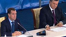 Медведев и Янукович обсудили предстоящий матч Шахтера с Зенитом
