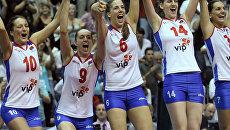Сербские волейболистки впервые выиграли чемпионат Европы