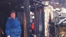 В поселке под Петербургом сгорели сараи местных жителей