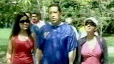 Президент Венесуэлы Уго Чавес появился перед телекамерами с дочерьми