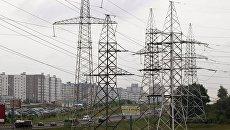 Линии электропередачи в Минске
