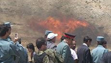 Гору наркотиков сожгли на глазах дипломатов и журналистов в Кабуле
