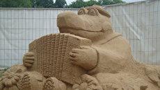 На ВВЦ появились песчаные копии знаменитых мировых фонтанов