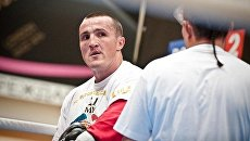 Тренировка боксеров Роя Джонса-младшего и Дениса Лебедева. Архив