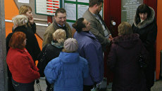 Очереди в пунктах обмена валюты в Минске