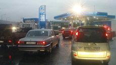 Очереди на автозаправки Газпромнефти в Новокузнецке