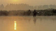 На рыбалке. Архив