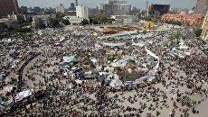 Площадь Тахрир в Каире после отставки президента Египта
