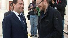 Медведев спросил у Кашина о здоровье и пожелал не менять позиций