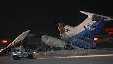 Пожар на борту самолета Ту-154 в аэропорту Сургута