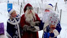 Дед Мороз и Йоулопукки бегали наперегонки на российско-финской границе