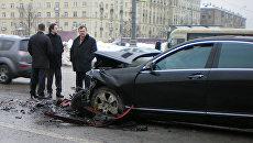 ДТП на Ленинском проспекте с участием машины вице-президента ЛУКОЙЛа Анатолия Баркова, которое произошло 25 февраля 2010 года