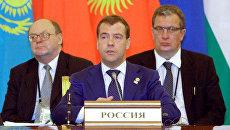 Наблюдатели ШОС будут следить за ситуацией в Киргизии - Медведев