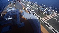 Тяжелый авианесущий крейсер Новороссийск. Архивное фото