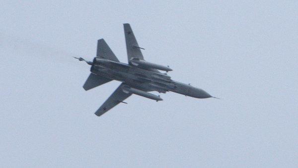 Бомбардировщик Су-24. Архив