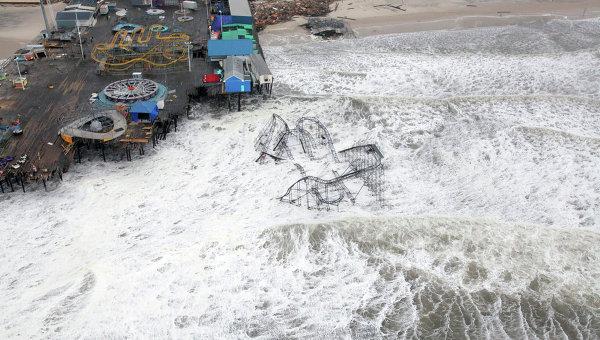 Последствия урагана Сэнди в штате Нью-Джерси