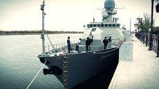 Корабль-невидимка и морпехи Каспийской флотилии. Интерактивный репортаж