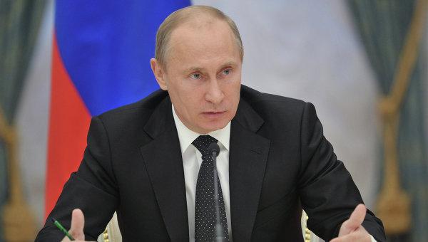 В.Путин на встрече с членами Совета законодателей РФ