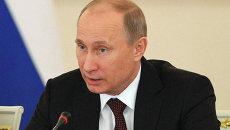 Президент РФ Владимир Путин на заседании Госсовета в Кремле