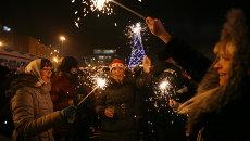 Встреча Нового года в Новосибирске, архивное фото