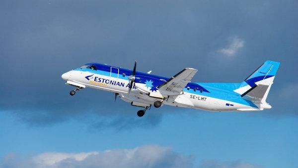 Самолет Saab SF340A авиакомпании Estonian Air. Архивное фото