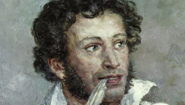 Фрагмент репродукции картины Александр Сергеевич Пушкин