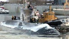 Подлодка Синдуракшак после ремонта в России уплыла к индийским военным